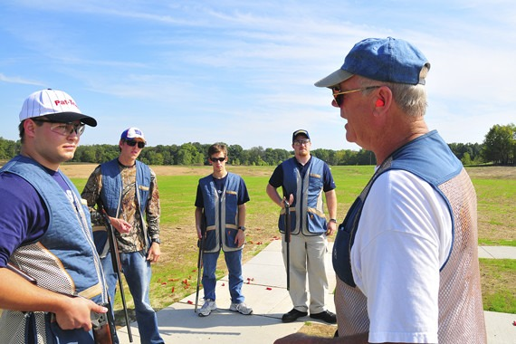Instructor teaching a shotgun class.