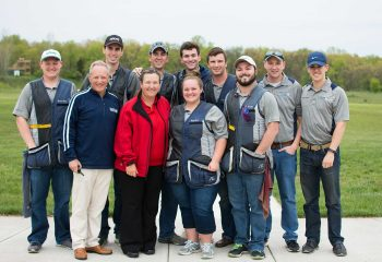 Kim Rhode with Hillsdale Shotgun Team