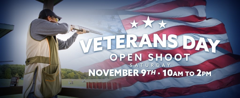 Veterans Day Open Shoot November 9 10am to 2pm